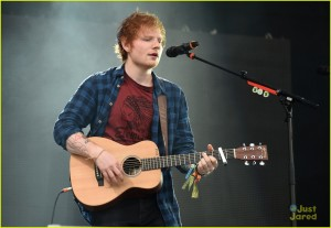 Ed Sheeran rocks the stage in Glastonbury **USA ONLY**