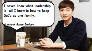 Poto Leeteuk Super Junior, Quote artis Korea Leeteuk Super Junior
