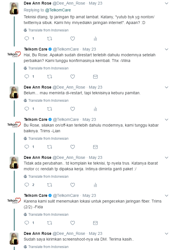screenshoot twitter, customer service telkom, teknisi speedy telkom, screenshoot gangguan speedy telkom, speedy telkom, keluhan speedy telkom, keluhan pelayanan telkom speedy, pengaduan telkom selain 147, twitter speedy telkom, twitter telkom care